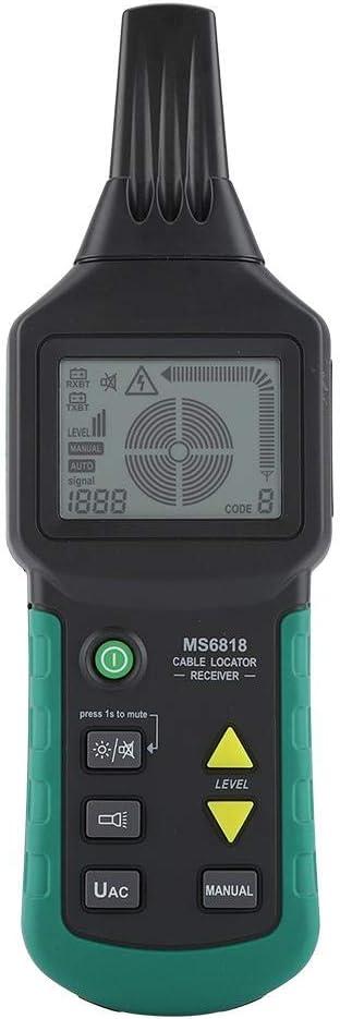 MS6818 12V-400V AC//DC Localizzatore di Cavi a Filo sotterraneo Rilevatore di Tubi Metallici Linea Tester Dispositivo di localizzazione dei Cavi Wandisy Localizzatore di Cavi