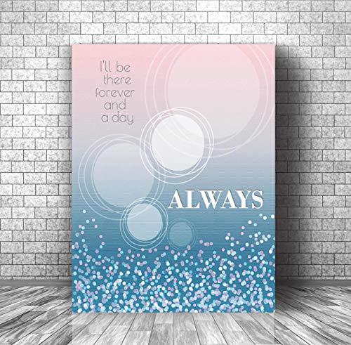 Always by Bon Jovi - Song Lyric Wall Visual Art - Home Decor Gift - Music Quote Print Canvas or Plaque (Christmas Lyrics Bon Jovi)