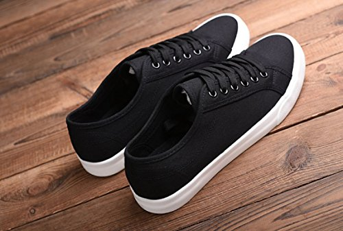 di WFL Scarpe bianco scarpe scarpe nero e scarpe casual di uomo scarpe bianche uomo da tela in stoffa bianche da scarpe scarpe selvaggi Nero UUfrq