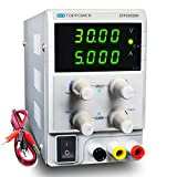 SKYTOPPOWER Bench DC Power Supply 30V 5A Variable Lab DC Power Supply High Resolution 10mV and 1mA with Alligator Cable(3005H-150W)
