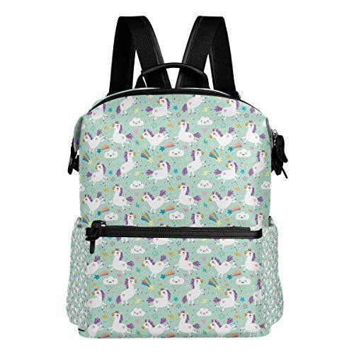 Lightweight Unicorn Pattern Vector Im Backpack Elegant Casual Daypack for Women -