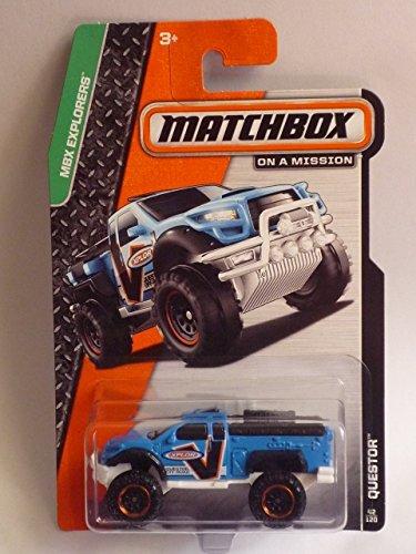 QUESTOR (LIGHT BLUE) * 2014 MBX EXPLORERS * Matchbox 1:64 Scale Basic Die-Cast Vehicle