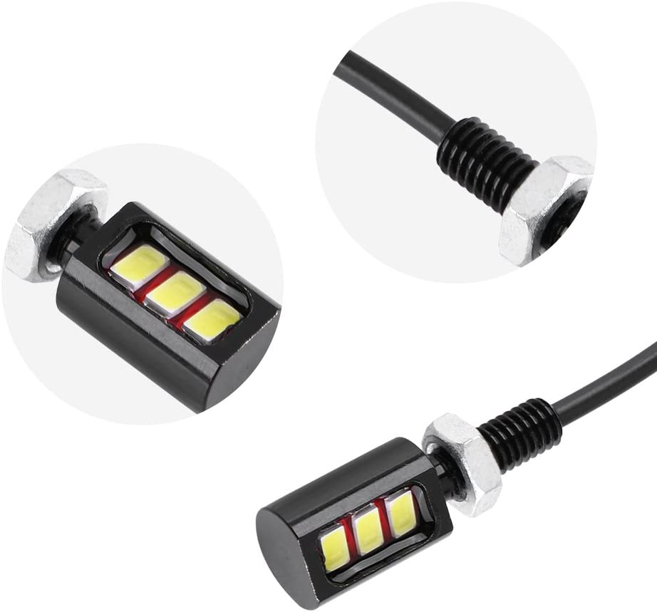v/élo universelles LED pour voiture Keenso Lot de 2 ampoules LED pour plaque dimmatriculation 12 V 3 LED SUV RV moto