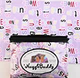 """'NUGGLEBUDDY Microwavable Moist Heat & Aromatherapy Organic Rice Pack Teen Girls! Lovely Lavender """"Sweet Words"""" Flannel Fabric with """"SWEET LAVENDER"""" Aromatherapy. GREAT GIFT IDEA!"""