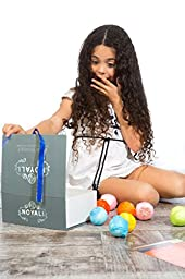 12 Premium lush Bath Bombs Gift set- Luxurious Handmade Fizzies,extra cocoa & shea butter, for Moisturizers 100% Natural Ingredients,Rich Fragrances, Essential Oils, Pure White in a Designer Packaging