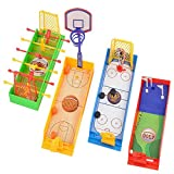 NiGHT LiONS TECH 4 pcs 8 inch mini finger sport game - Portable Mini Table Football basketball hockey ice golf Game Set for kids Interactive Sports Educational toys