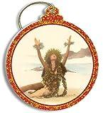 Hawaiian Gold Foil Trimmed Christmas Ornament Mililani