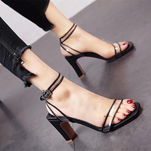 con estivo tacchi elegante tacco alta a partito Europeo ladies dita di fashion YMFIE sandali vCnwX1nW