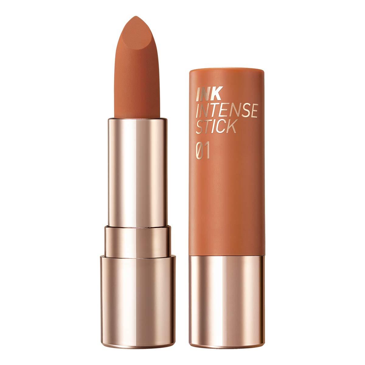 Peripera Ink Velvet Intense Lipstick | Matte Longwear, Super Stay, Comfortable Velvet Lipstick | #01 Soft Beige