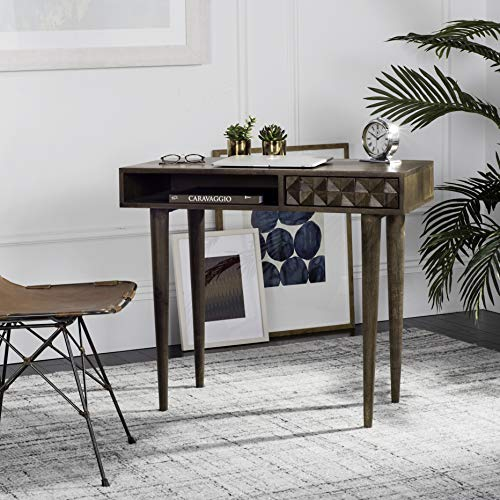 - Safavieh DSK9000A Home Collection Zinnia Desk Walnut