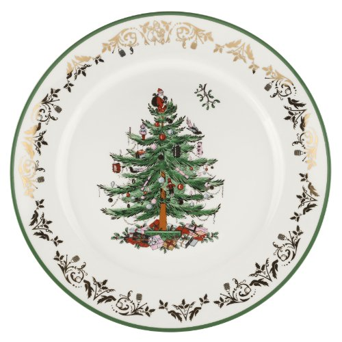Christmas Tree Round Platter - Spode Christmas Tree Gold Round Platter 12inch