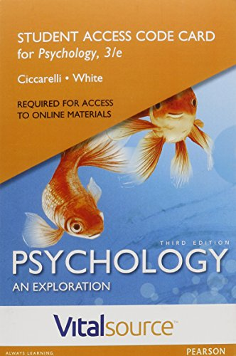 VitalSource Edition for Psychology: An Exploration -- Access Card (3rd Edition) (Textbooks Isbn Number Search compare prices)