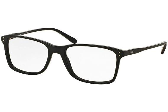 Ralph Lauren POLO 0PH2155 Monturas de gafas, Matte Black, 58 para ...