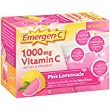 Emergen-C (30 Count, Pink Lemonade Flavor, 1 Month Supply) Dietary Supplement Fizzy Drink Mix with 1000mg Vitamin C, 0.33 Ounce Packets, Caffeine Free
