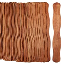 100 Cherry Stain Wavy Jumbo Wood Fan Handles Color Wedding Fan Sticks