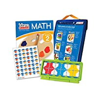 hand2mind VersaTiles Math Practice Take Along Set (Grade 2), Allow Kids to Learn, Practice & Self-Check Essential Math Skills at Home, Independent Activities for Kids