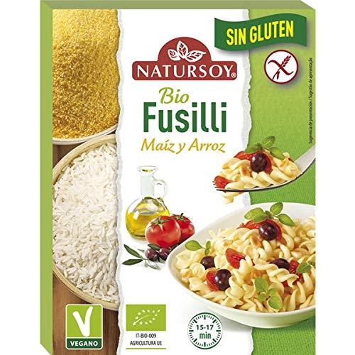 Pasta Fusilli de maíz y arroz sin gluten 250g, Natursoy ...