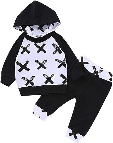 2PCS Newborn Kids Baby Boys Girl Outfits Clothes Sweatshirts Tops+Long Pants Set