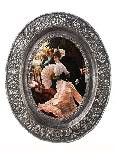 (Victorian Trading Co. Oval Floral Filigree Photo Frame 5x7 Silver)