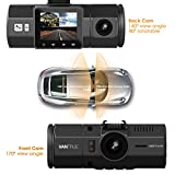 Vantrue N2 Dual Dash Cam - 1080P FHD +HDR Front and Back Wide Angle Dual Lens 1.5 LCD In Car Dashboard Camera DVR Video Recorder with G-Sensor, Parking Mode & Super Night Vision