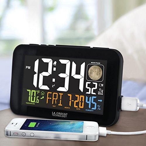 La Crosse Technology LED Alarm Clock with Charging