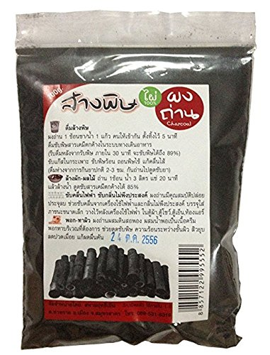 Bamboo Charcoal Powder 100g. Made in Thailand.