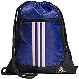 adidas Unisex Alliance II Sackpack, Mystery Ink Blue Jersey/Black/Clear Orange, ONE SIZE