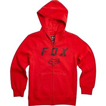5c50eacbb Amazon.com: Fox Racing Boys Legacy Moth Zip Fleece Hoody Zip Sweatshirts YS  Flame Red: Clothing