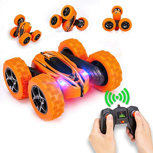 AHIROT RC Car for Kids Transform Car Robot, Deformation Car Model Toy 1:18 Transformation Remote Control Vehicle for Children Perfect for Birthday Gift (Orange)