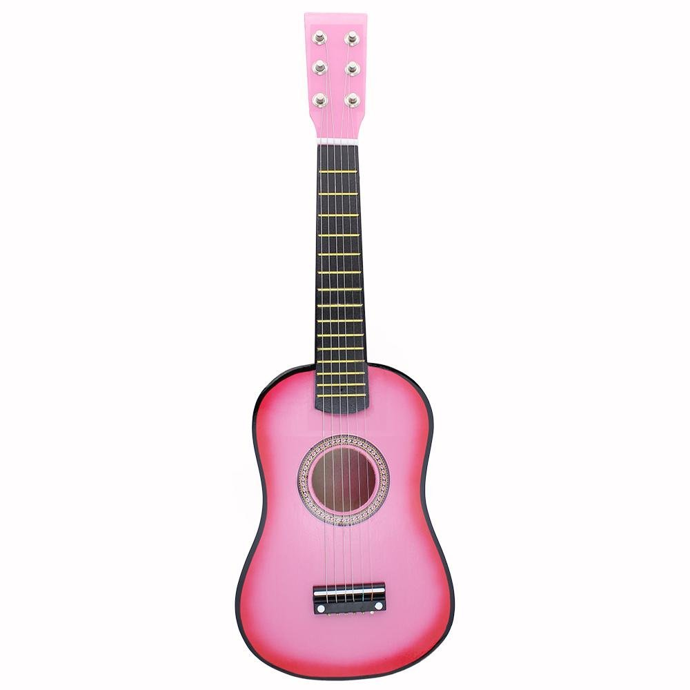 21 inch 6 Strings Acoustic Guitar for Beginner, Kid' Musical Instrument Toy Gift (Pink) VGEBY VGEBYts3un06gy5-01