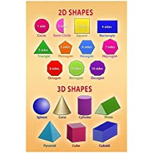 2D and 3D Shapes Educational Chart Poster Collections Poster Print, 13x19