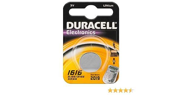 Duracell CR 1616 - Pila especial para dispositivos electrónicos, 1 x blister: Amazon.es: Electrónica