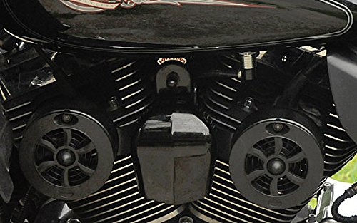 CMBKG-1 Love Jugs Cool Master Gloss Black V-Twin Engine Cooling System for Harley Motorcycles