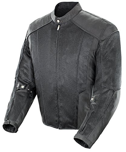 Power Trip Gauge Mesh Men's Motorcycle Jacket (Black, - Point Streets At South