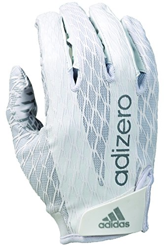 adidas Adizero 4.0 Adult Football Receiver's Gloves, White/White, - Adidas Football Gloves