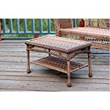 Outdoor Resin Wicker Coffee Table by Jeco