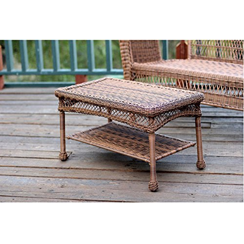 Outdoor Resin Wicker Coffee Table by Jeco (Furniture Honey Room Wicker Living)