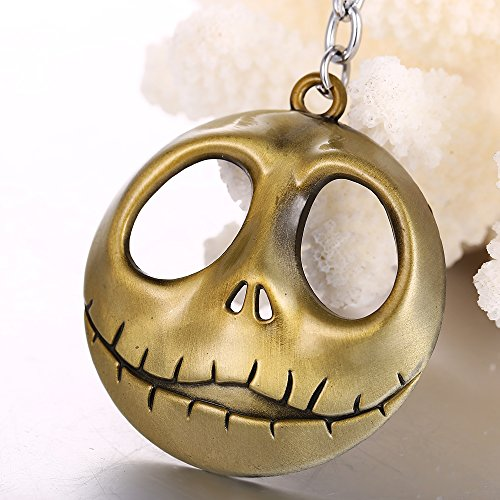 Jack Skellington Nightmare Before Christmas Halloween Ceiling Fan Light Kit Beaded Pull Chain 3 COLORS (Antique Brass)