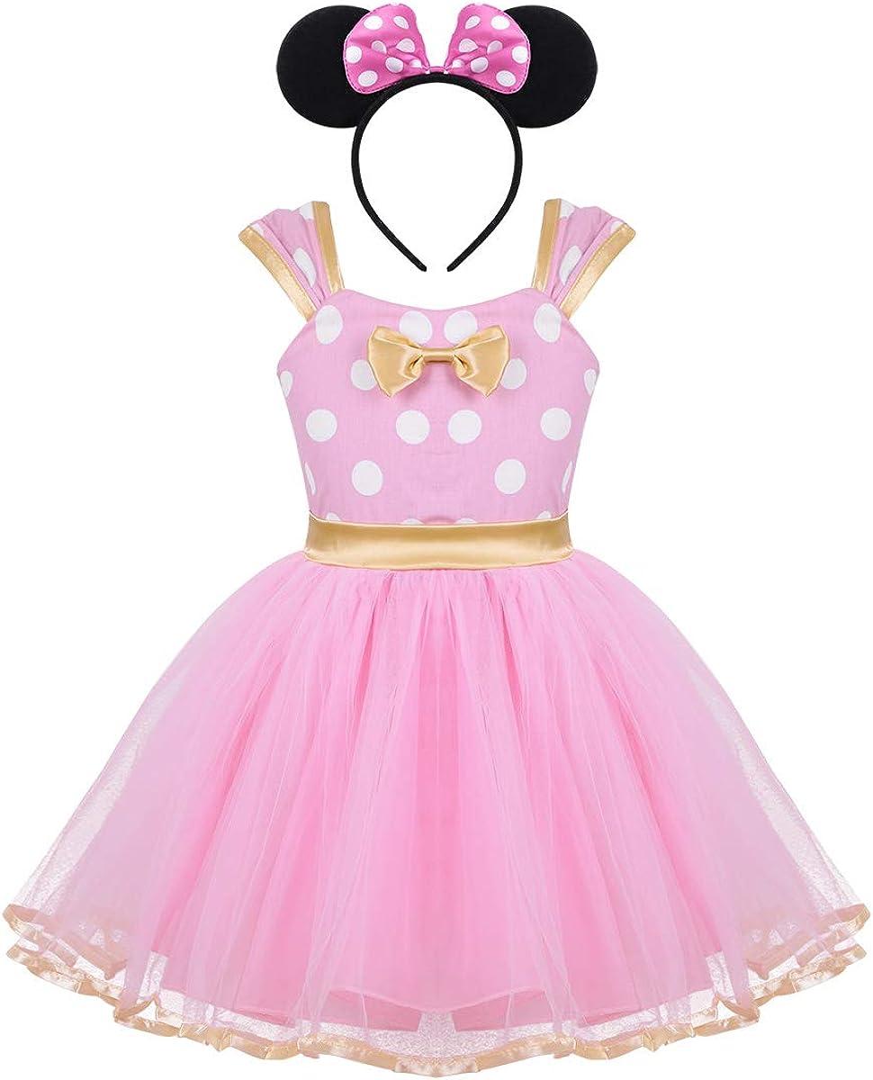 Lkxfz Baby Girl Dress Toddler Girl Polka Dots Fancy Dress Up Costume Birthday Party Tulle Dresses
