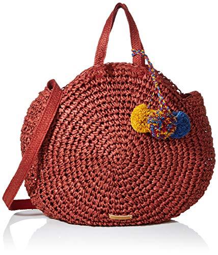 Esprit Accessoires Ronda Tote, Women's Top-Handle Bag, Red (Bordeaux Red), 8x40x40 cm (B x H T)