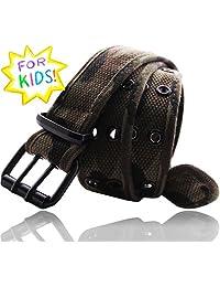 EURO Kid's & Youth Premium Canvas Double Hole Grommets Web Belt - BK211