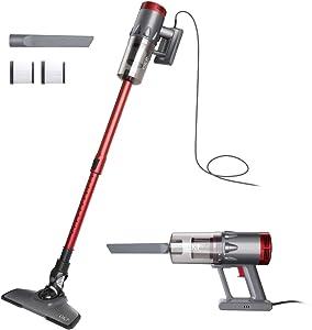 OKP Vacuum Cleaner Corded 17KPa Suction Handheld & Stick Vacuum, Lightweight & Versatile with Metal filter and HEPA for Hardwood Floor Pet Hair