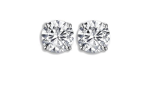 fb99cf719 Amazon.com: Dazzlingrock Collection IGI Certified 1.05 Carat (ctw) 14K  Round Cut White Diamond Ladies Stud Earrings 1 CT, White Gold: Jewelry