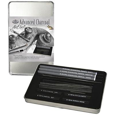 Royal & Langnickel Small Tin Charcoal Drawing Art Set