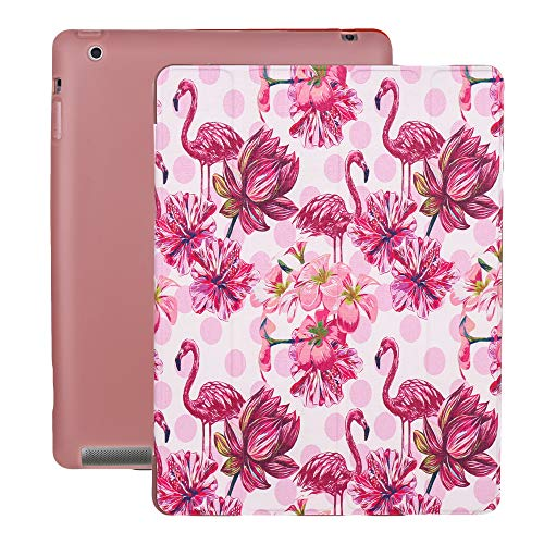 A-BEAUTY iPad 4/3 / 2 Case, Ultra Slim Painted Leather [Trifold Stand] [TPU Inner] Smart Cover with Auto Sleep/Wake for iPad 2/3 / 4, -