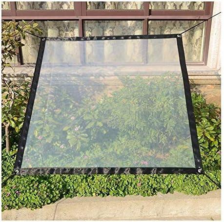 FQJYNLY 防水シート防雨ポイント防塵植物質ソフトフィルム金属リングアウトドア絶縁スリーブ、14サイズ (Color : Clear, Size : 2x2m)