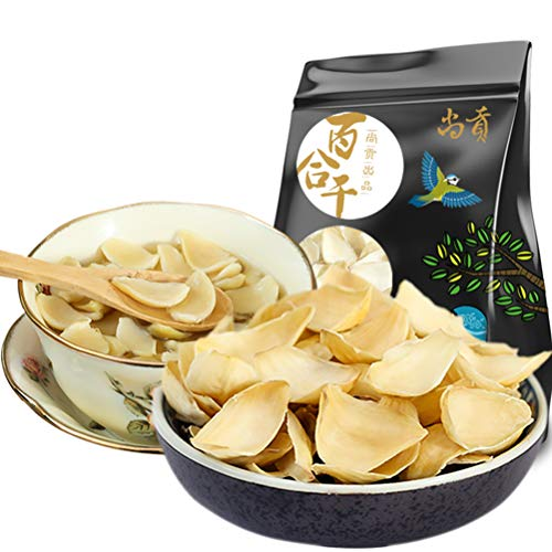 OUZ123 Lanzhou Chinese Fresh and Non-sulfur Dried Lily Bulb Healthy Food Bai He 百合干 250g/8.8oz