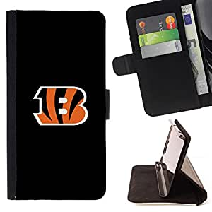 Tigers B Sports Team - Painting Art Smile Face Style Design PU Leather Flip Stand Case Cover FOR Samsung Galaxy Note 3 III @ The Smurfs