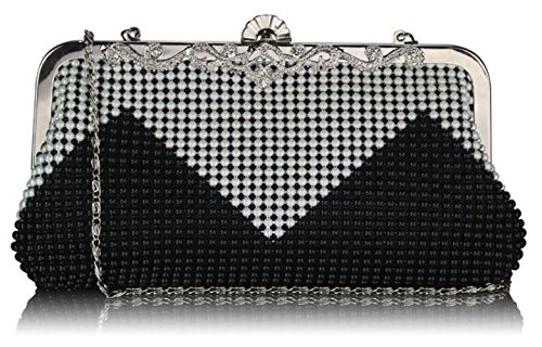 Clutch Bags Bag Bridesmaid Cream CWE0047 CWE00139 White Bridal's Women's CWE0047 Evening Black Handbags Small Purse Designer ZxEFt