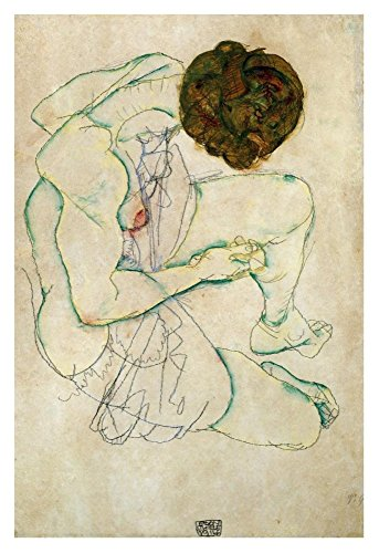 "Global Gallery ""Egon Schiele Seated Nude Woman"" Unframed Giclee on Paper Print, 36"" x 24"""